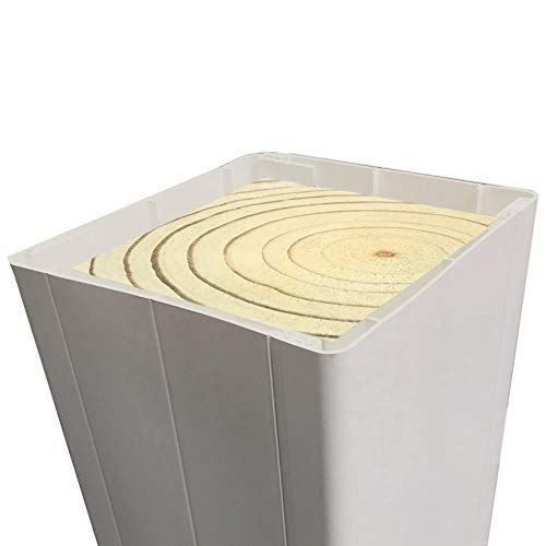 Weatherables | ATPT-WRAP-4X96 | External Vinyl Post Wrap | 4 Inch x 4 Inch x 96 Inch | Tan | Vinyl