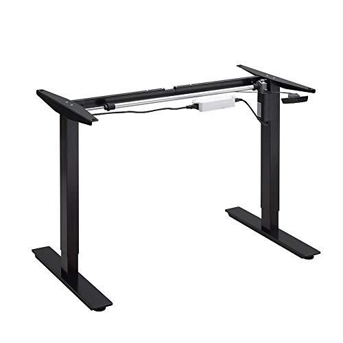 Balderia Patas de mesa ajustables en altura – Escritorio eléctrico ajustable – Estructura de mesa para hogar y oficina – Altura 65,5 – 115,5 cm, color negro