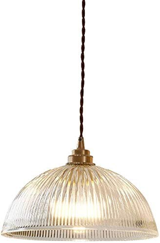 Lampara colgante techo, Lámpara de cristal vintage Retro Colgante Lámpara E27 Socket Clear Glass Lampshade Pendell Lámpara Comedor Mesa de comedor Cocina Habitación Dormitorio Colgante Lámpara Altura