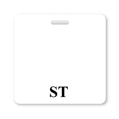 """""""ST"""" Horizontal Badge Buddy with White Border from Specialist ID, Sold Individually"""