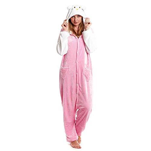 Pijamas Enteros de Animales Adultos Unisex (Tallas de Adultos S a L) Disfraz Pijama Mujer Gato Rosa...
