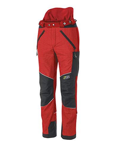 PSS X-Treme Vectran Schnittschutzhose Rot/Schwarz, Größe 27 untersetzt