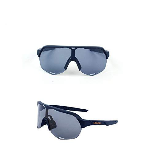Gafas de sol deportivas polarizadas con 3 lentes intercambiables, gafas de bicicleta para hombres y mujeres, gafas de bicicleta Gafas de sol de bicicleta para montar la bicicleta de carreras,Dark blue