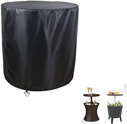 POMER Round Patio Side End Table Cover Dia 21x H 23 inch Waterproof Dustproof Kete 7 5 Gal Cool product image