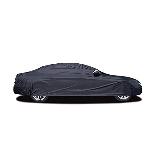 Lonas Impermeables Exterior Coche Cubiertas De Automóviles Exterior Impermeable Sol Ácido Lluvia Protección Contra La Nieve Uv Paraguas Del Coche Negro Auto Cover Suv Sedan Hatchback XL Hatchback
