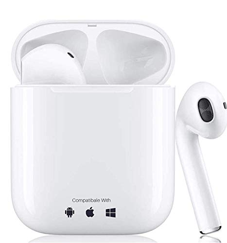 Wireless Earbuds Bluetooth 5.0 in Ear Earbuds (Fast Charging Case) Built in Mic Headset Pop-ups Pairing Earphones 3D Stereo Deep Bass,for iPhone Android Apple AirPods Pro Headphones