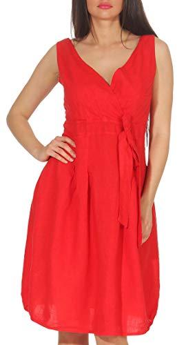 malito dames linnen jurk in klassiek Design | elegante cocktailjurk | Chique avondkleed | Partyjurk - A-lijn 8147