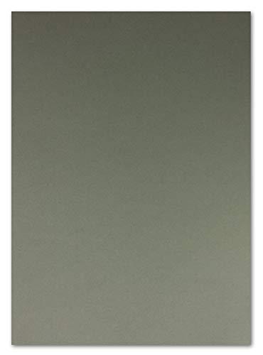 50 DIN A4 Papier-bögen Planobogen -anthrazit - 240 g/m² - 21 x 29,7 cm - Ton-Papier Fotokarton Bastel-Papier Ton-Karton - FarbenFroh®