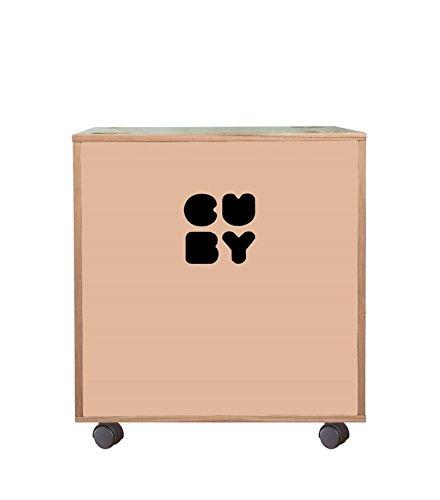 CUBY Aufbewahrungsbox Spielzeugkiste auf Rollen, stapelbar, B-Ware (dusty pink)