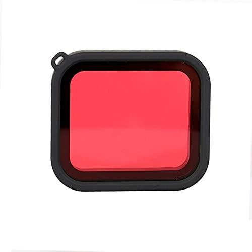 LSB-SHOWER Filtro de Buceo Rojo para Estuche Impermeable Protector de Filtro de Lente de Buceo subacuático para GoPro Hero Black 5 6 7 Accesorios de cámara de acción ( Color : Red )