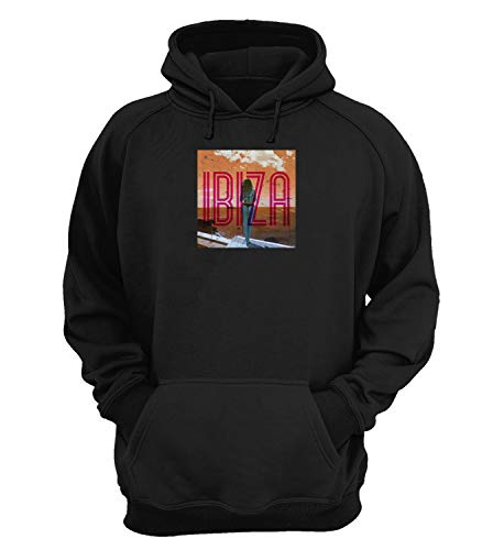Ibiza Sexy Bikini Girl_KK023258 Hoodie Hooded Sweater Sweatshirt Christmas Gift Unisex Cotton - Black