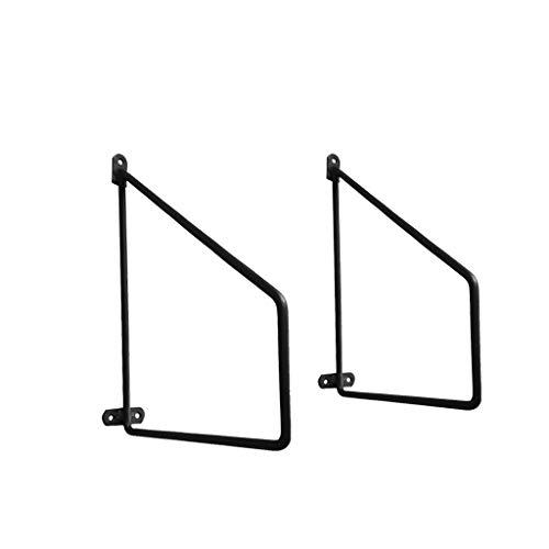 2 Stks Drijvende planken Decoratieve Heavy Duty Shelf Brackets, Rustieke Scaffold Board Wandplank in Retro stijl met Iron Book Shelf(150mm, 200mm, 250mm, 300mm)