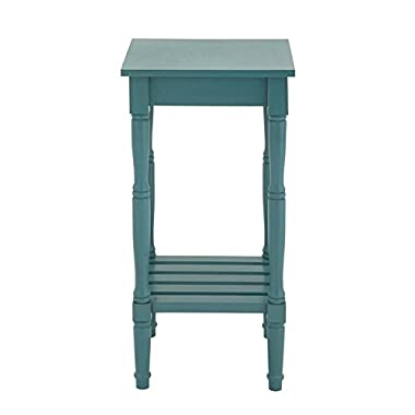 Deco 79 96227 Wood Side Table, 14  x 29 , Teal