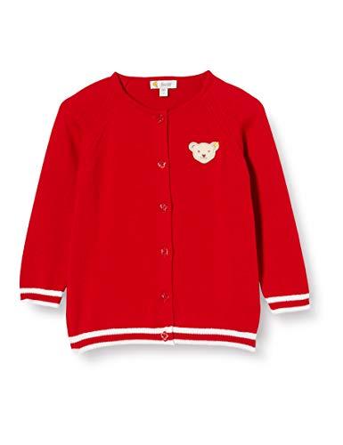 Steiff Baby-Mädchen Strickjacke, Rot (Tango Red 4008), 62 (Herstellergröße: 062)