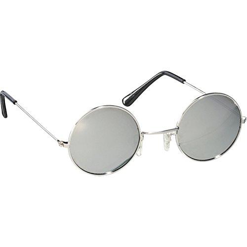 ORLOB Steampunk - Gafas de sol redondas, color plateado y negro