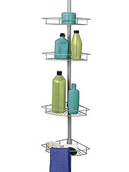Zenna Home 2156NN Tension Pole Shower Caddy Nickel