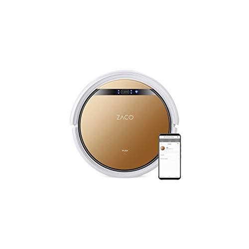 ZACO V5x – Robot aspirateur 2 en 1 Max et capteurs intelligents, 4 Modes de Nettoyage et Charge Automatique, Application et Assistant Vocal Alexa, Couleur Brun...
