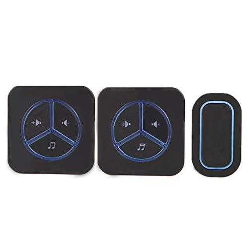 Waterdichte, draadloze deurbel Smart Home welkom voor oudere oproepen, waterdicht, afstandsbediening. B blue