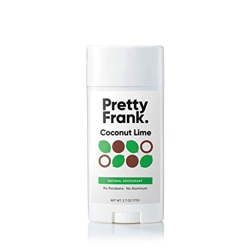 Pretty Frank Natural Deodorant Stick - No Aluminum Deodorant for Women, Men, Teens, Kids – Paraben Sulfate Free Deodorant with Shea Butter, Coconut Oil, Vitamin E, Baking Soda – Coconut Lime (1pc)