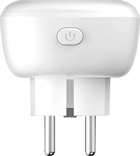 Enchufe inteligente Wi-Fi Smart Plug, Enchufe Inteligente de 2.4 GHz con Temporizador de Control Por Voz y Función de Cuenta Atrás, Compatible con Alexa y Google Assistant, APP de Control Remoto