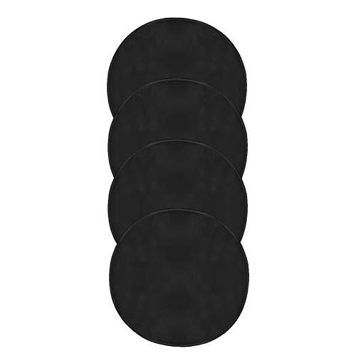 4 Pcs Wheel Felts Covers 55cm/21.4in Black Dustproof Wheel Protection Lightweight Tote Felt Universal Fit for Tire