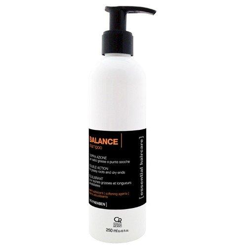 Essential Haircare - Shampoing Equilibre - Traitement Purifiant Professionnel des Cheveux Secs, Cassants et Arides et des Racines Grasses - 250 ml