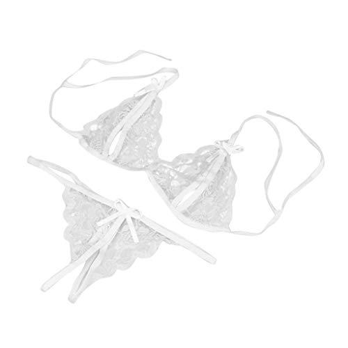 Luckycat Ropa Interior Lencería Sexy Conjunto de Ropa Interior para Mujeres Ropa de Dormir Babydoll + Tanga Conjunto de lencería Sexy para Mujer