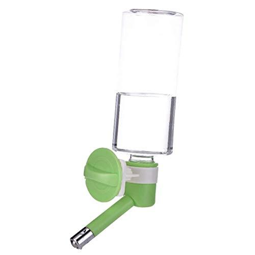 Yu-Xiang 500 ml No-Drip Dog Water Bottle Cats Drinker Pet Kennel Cage Water Dispenser (500ml, Green)