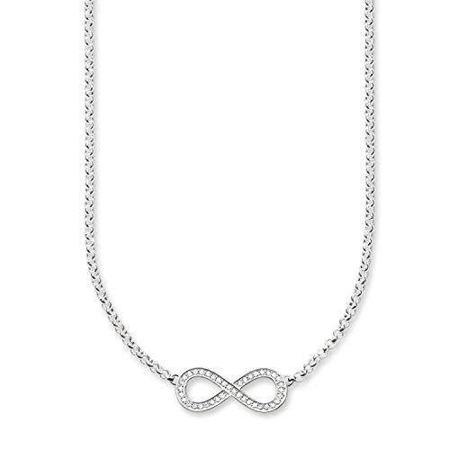 Thomas Sabo Damen-Collier 925 Silber Zirkonia weiß 42 cm - KE1312-051-14