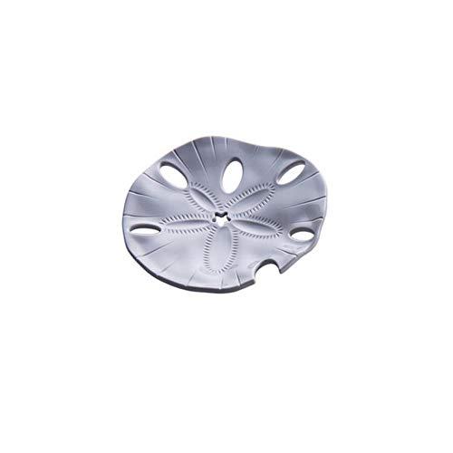 KADIS Jabonera de Estrella de mar Bandeja de Drenaje de jabón en Forma de Hoja Soporte de jabón Creativo Placa de Almacenamiento Bandeja Contenedor Accesorios de ba?o, Estrella de mar Gris