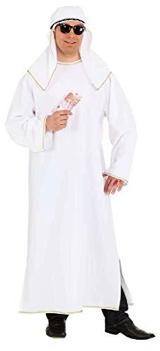 O878-46-48 - Disfraz de esquiador oriental de rabe, talla 46-48, color blanco