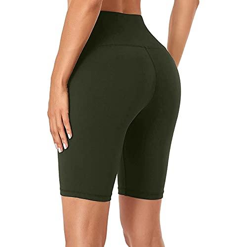 Ghemdilmn Pantalones de yoga para mujer, estrechos, delgados, push up, cómodos, transpirables, para correr, gimnasia, informales, legging A verde militar. M