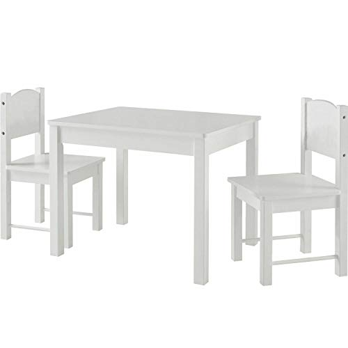 HYGRAD Kids Wooden White Table Desk And Chair Set For Study Home Work Writing Reading Kids Personal Space