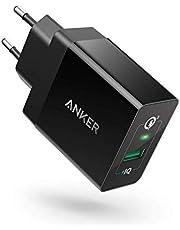 Anker PowerPort 1 18W USB-oplader met Quick Charge 3.0 en Power IQ voor Samsung Galaxy/Note, iPhone, iPad, LG, HTC, Huawei, Nexus, enz. (zwart)