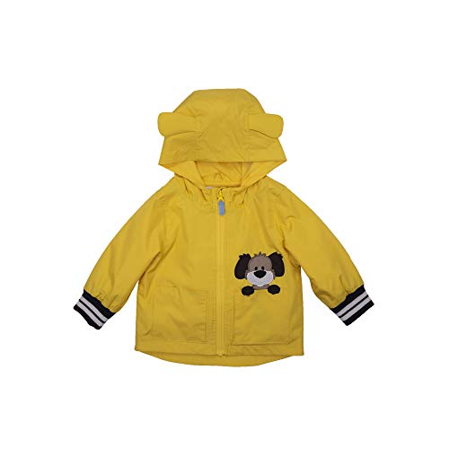 LONDON FOG Boys' RAINSLICKERS Rain Jacket, Yellow Dog Ears, 2T