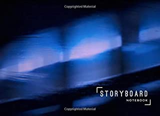Storyboard Notebook: 8.25 x 6 in, 6 Panel 16:9, 250 Pages, Blue Light Theme