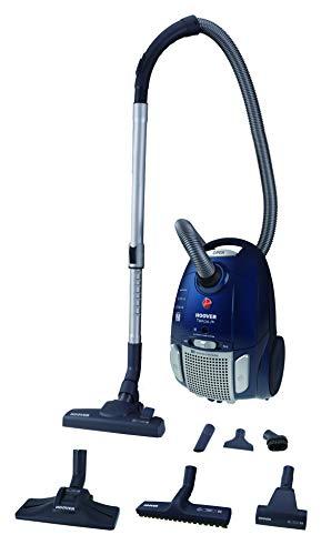 Hoover Telios Extra TX80PET, Bodenstaubsauger mit 3,5 l EPA-Staubbeutel, waschbarer EPA-Filter, variable Leistungsregulierung, Staubbeutel-Füllanzeige, Mini-Turbodüse zur Tierhaarentferung + 5 Zubehör