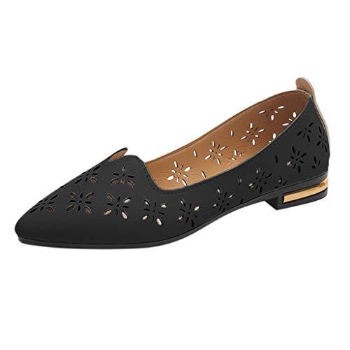 Dorical Damen Erbsenschuhe Slipper Casual Flatschuhe Low-top Große Schuhe Atmungsaktive...
