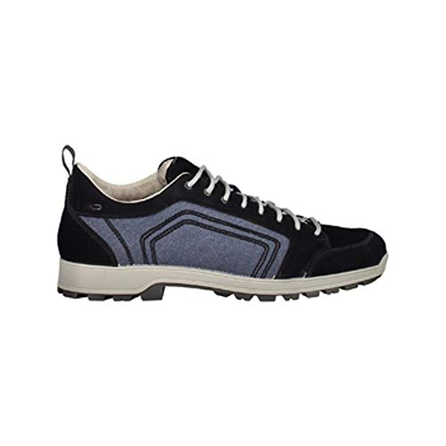 CMP Chaussures de Randonnée Chaussures D'Extérieur Atik Canvas Hiking Chaussures Bleu Marine Léger Canvas - N950 Noir Bleu, 42 EU