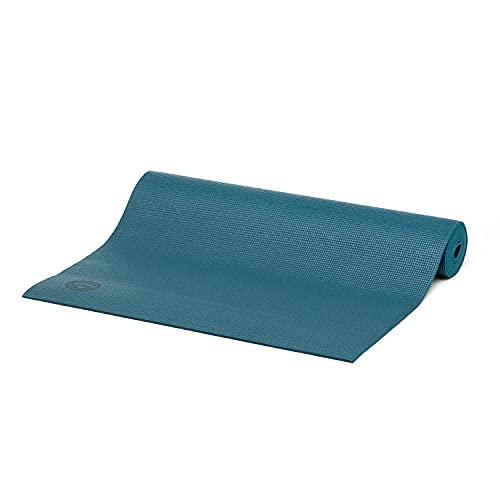 Tapete de Yoga PVC ecológico Asana indicado para iniciantes, ginástica e pilates 183x60cm Bodhi (Petróleo)