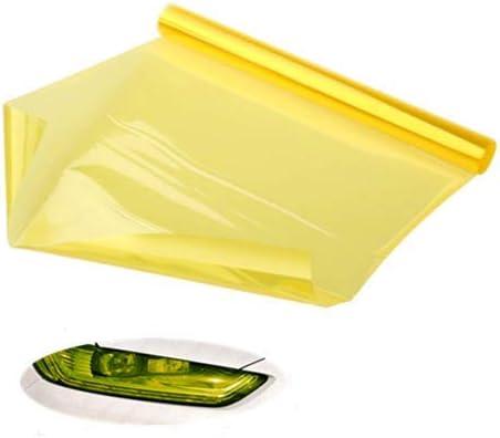 Voarge Scheinwerfer Folie Gelb 30 120cm Wasserdicht Auto Scheinwerfer Folie Tönungsfolie Nebelscheinwerfer Gelb Auto
