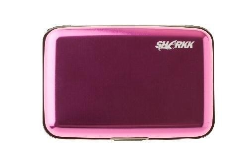 SHARKK RFID Blocking Wallet Aluminum Wallet Card Holder Identity Theft Protection Card Case Pink