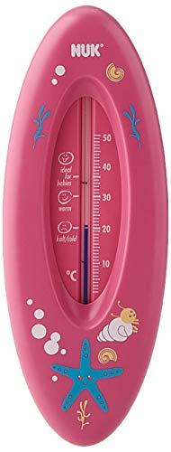 NUK Badethermometer für sicheres Baden, natürliche Messflüssigkeit aus Rapsöl, Made in Germany, 1 Stück, rosa