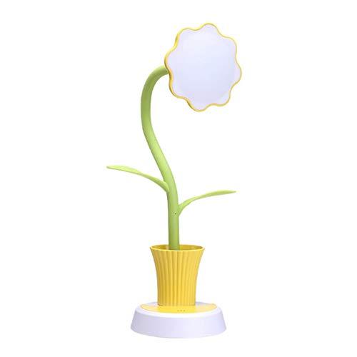 Preisvergleich Produktbild ypypiaol Sunflower Shape USB Wiederaufladbarer Stifthalter Tischlampe Light Desktop Decor Zubehör Gelb