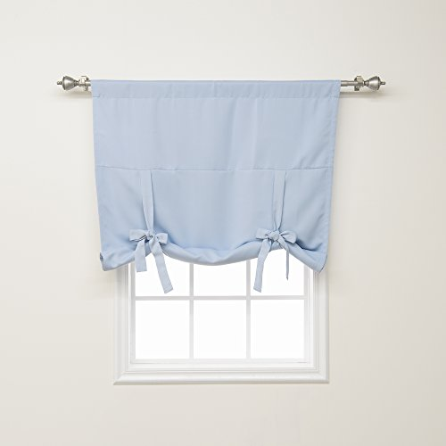 home fashion shades Best Home Fashion Premium Thermal Insulated Blackout Tie-Up Window Shade - Rod Pocket - Sky Blue - 42