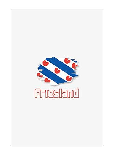 Tipolitografia Ghisleri Handtuch, Strandtuch, Strandtuch, Handtuch Friesland mit Flagge 116