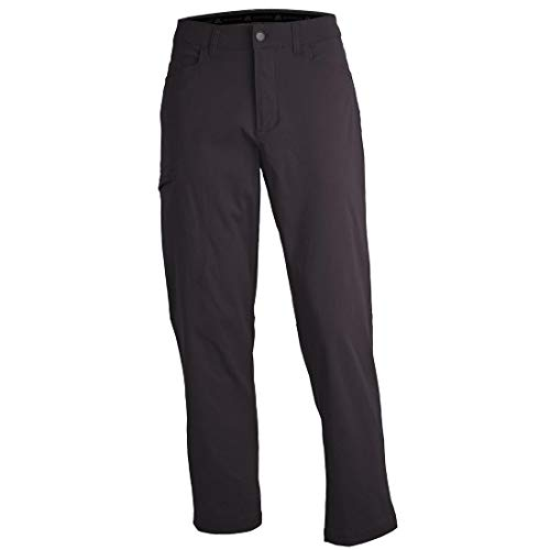 ZeroXposur Mens Stretch Hiking Travel Pants with Side Zipper Pocket and UPF 50+ Slate 34/32
