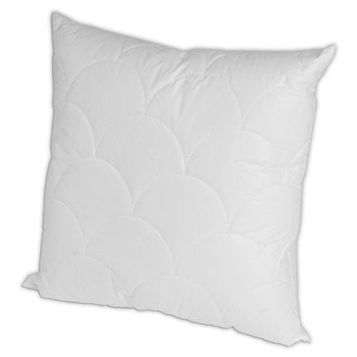 Merino-Betten Hochwertiges Kopfkissen 70x70 | Schlafkissen | Innenkissen mit verstepptem Bezug (weitere verfügbar) Serie Wolke