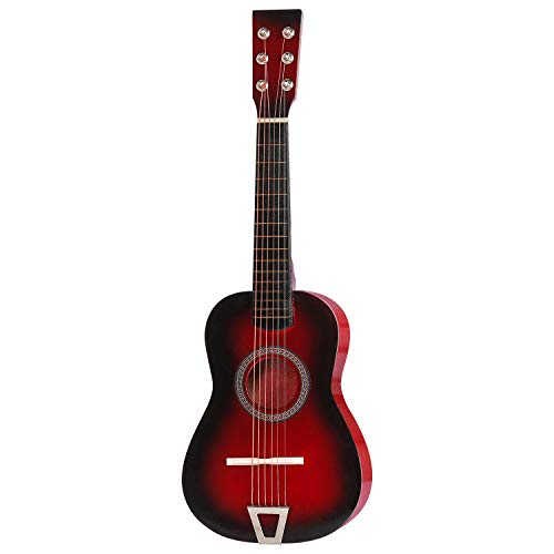 M SANMERSEN Kids Wooden Guitar 23' Kids Guitar Toy 6 Strings Kids Play Guitar Music Educational Toy for Kids Boys Girls Beginner Ages 3-7
