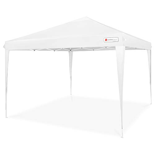 Best Choice Products 10x10ft Outdoor Portable Lightweight Folding Instant Pop Up Gazebo Canopy Shade Tent w/Adjustable Height, Wind Vent, Carrying Bag - White